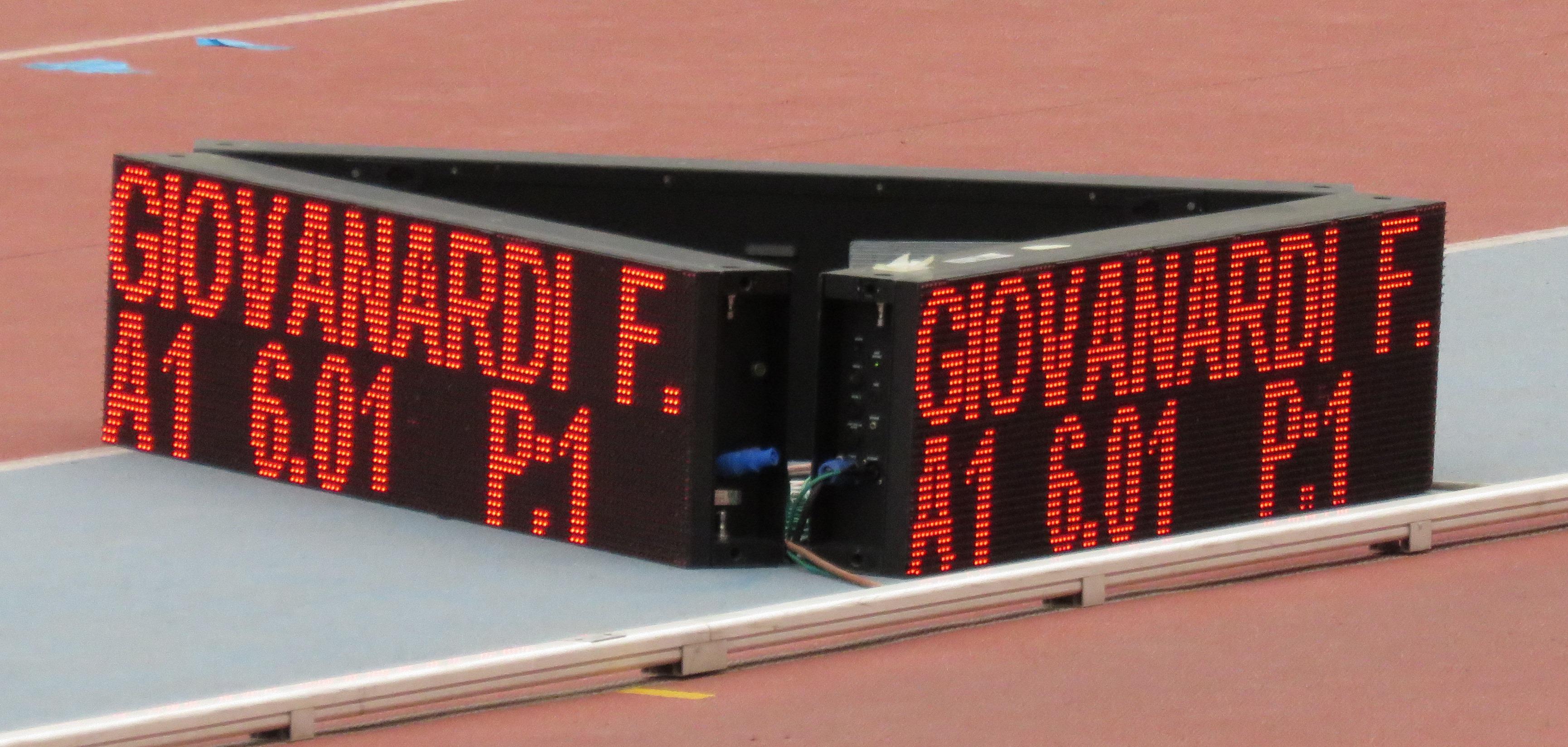 Federica Giovanardi e il suo record personale a 6.01, stabilito ai campionati nazionali assoluti.