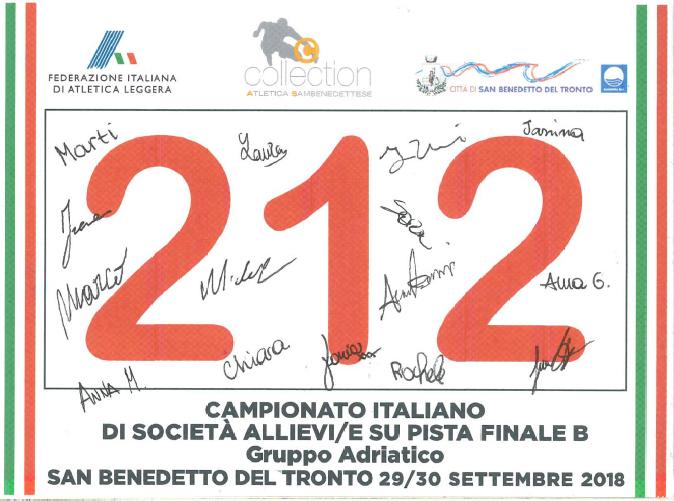 BUONA LA PRIMA atletica estense finale cds allieve 2018 San Benedetto del Tronto